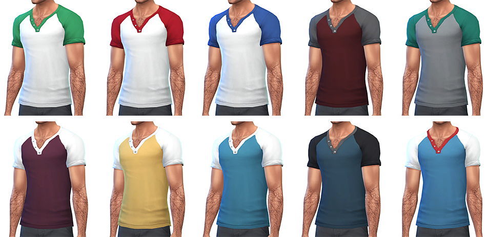 Simsontherope  Clothing, Male : Nuances  More color options for clothes