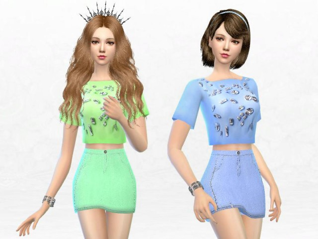 A-Line Mini Skirt by SakuraPhan