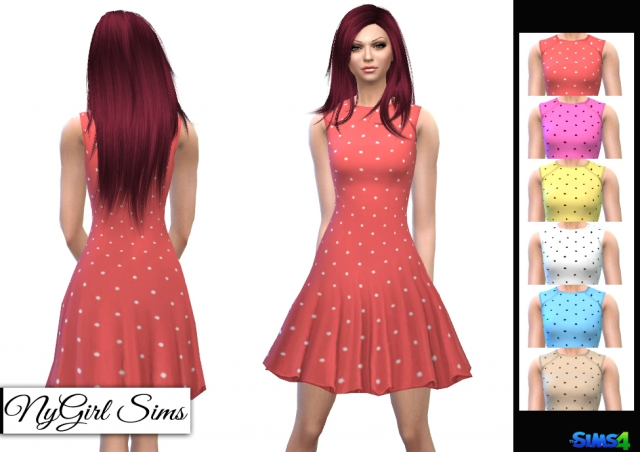Polka Dot Flare Dress by NyGirl