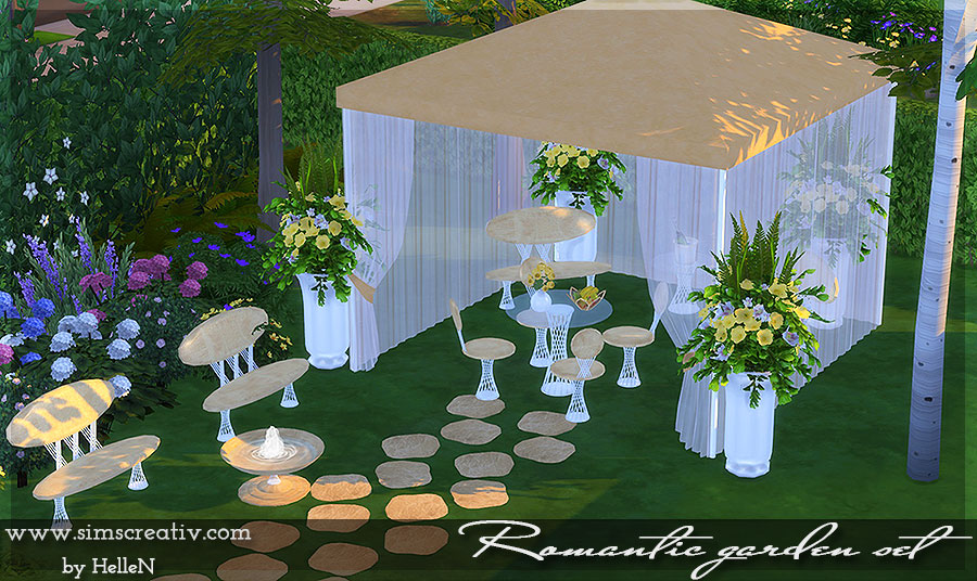 Romantic Garden Outdoor Set by HelleN