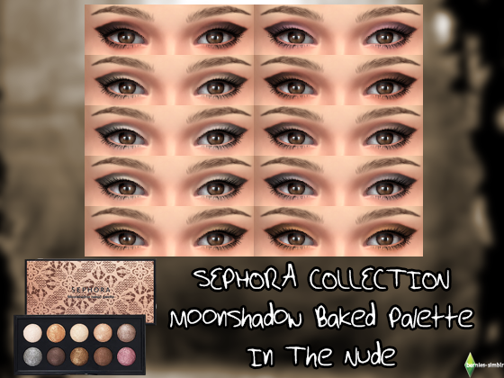 SEPHORA COLLECTION Moonshadow Baked Palette - In the Nude eye shadow palette by BerniesSimblr