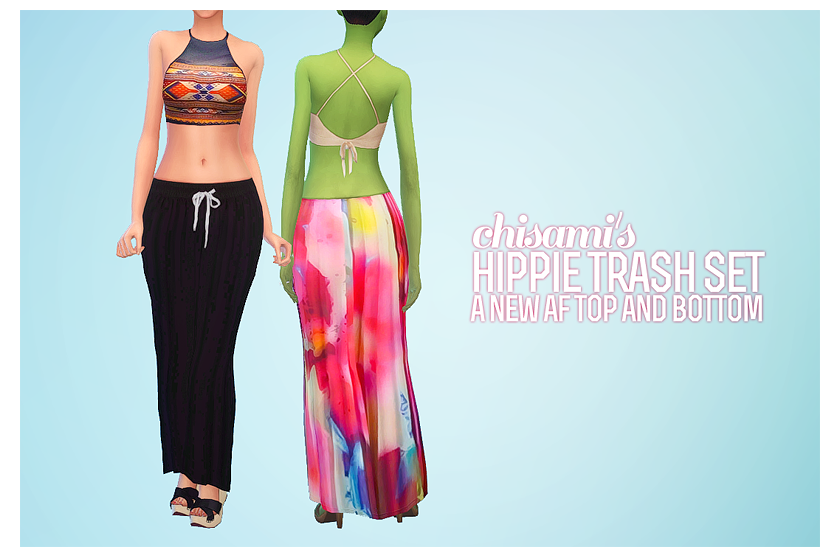 Hippie Trash Skirt & Top Set by Chisami