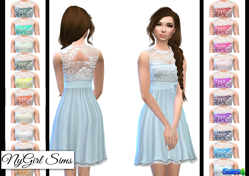Layered Lace Flare Dress by NyGirl