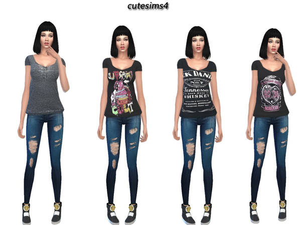 Rocker_Shirt_Collection by sweetsims4