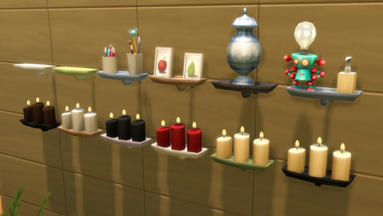 Candles & Shelf by Roundog