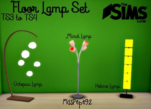 TS3 Floor Lamps Conversion by MissPepe92