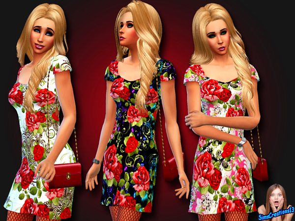 Red Roses Dress by SIMSCREATIONS13