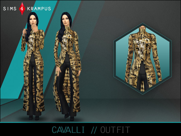 Cavalli Outfit by SIms4Krampus