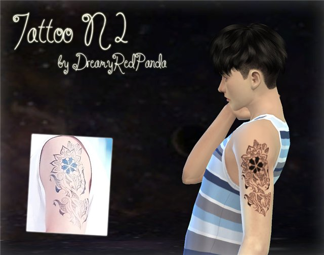 Tattoo for TS4 by DreamyRedPanda