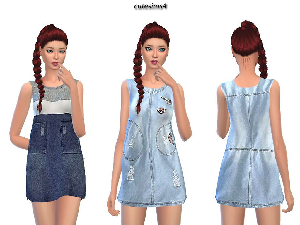 Jeans Dress by Cute Sims4