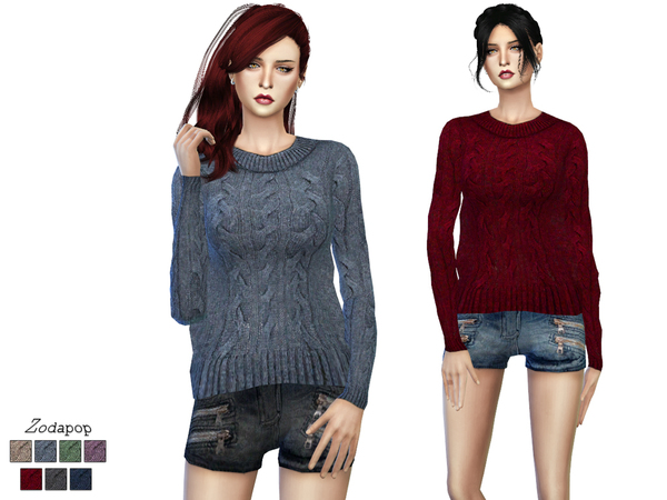 (S4) Wool Cable Knit Sweater by zodapop