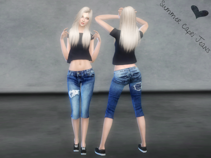 Summer Capri Jeans by bbs4