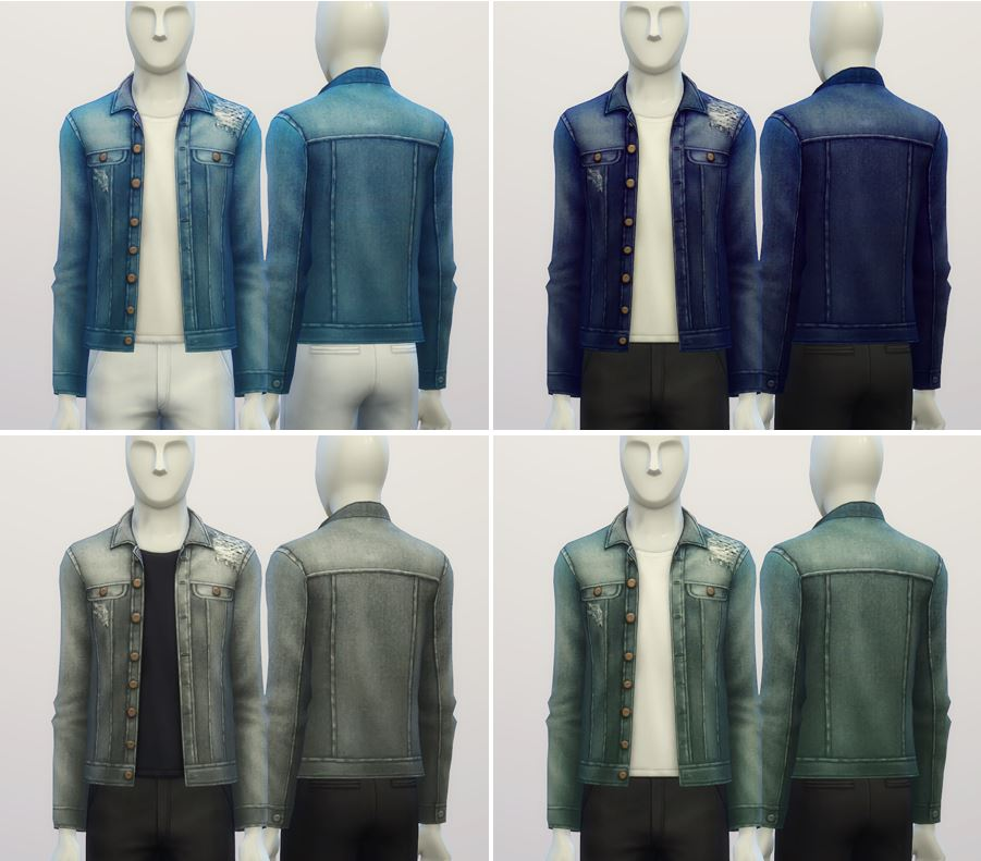 Denim Jacket for Males by Rusty Nail