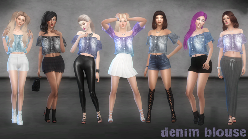 Denim Blouse by bbs4