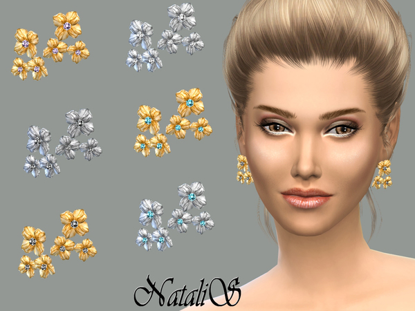 NataliS_Triple flower earrings FT-FE