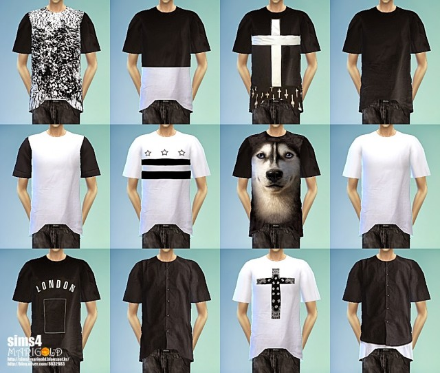 T-shirts black & white by Marigold