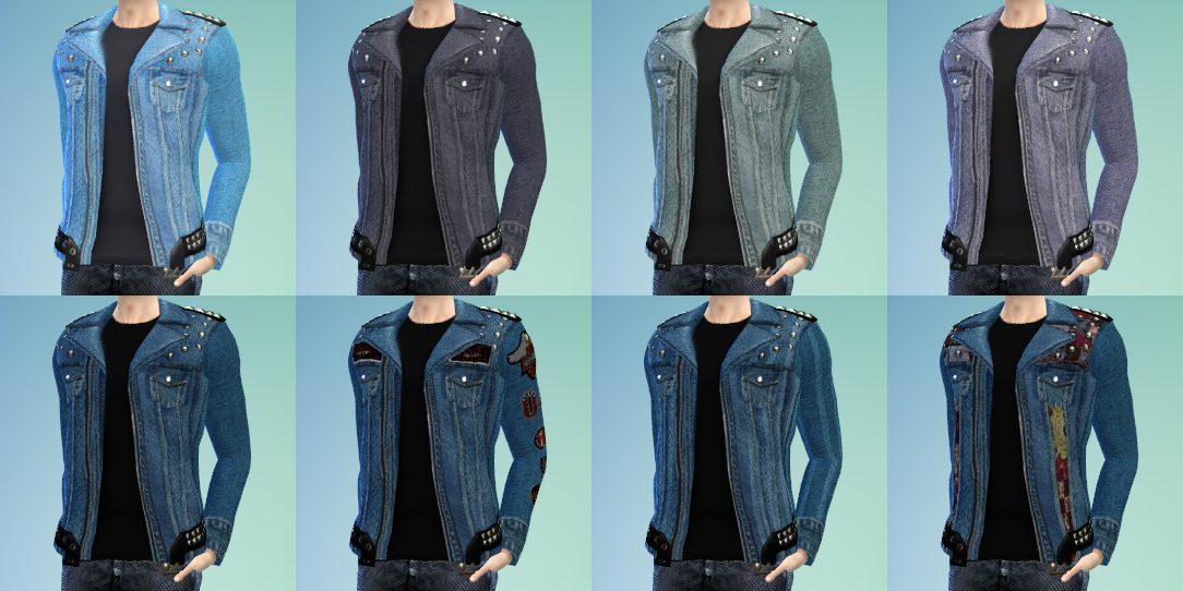 Denim Jacket for Males by AM1253