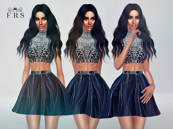 Diamond Rain Dress by FashionRoyaltySims