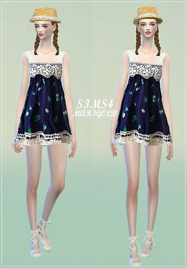 Lace girlish dress by Marigold