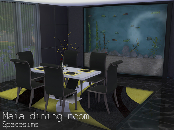 Maia dining room by spacesims