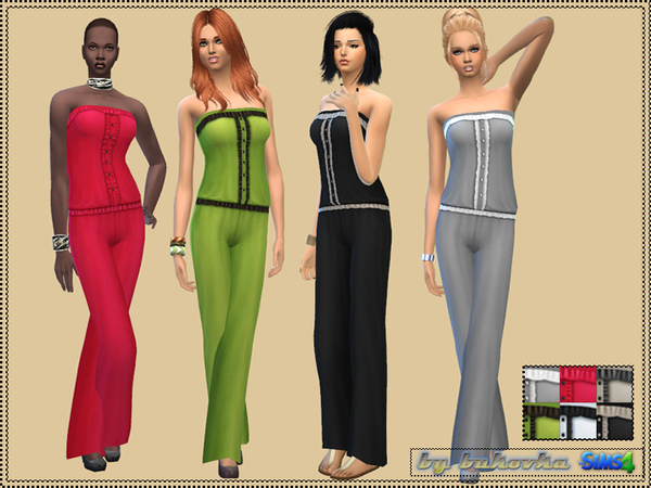 Jumpsuit with Ruffles by bukovka