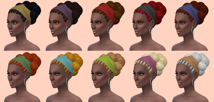 TS2 - Nouk Afro Knot Conversion by MonsterMadnessWorld