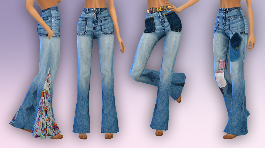 70's Inspired Jeans by LullabySims