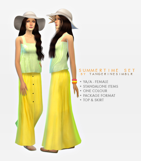 Summertime Set - Skirt & Top by Tangerine