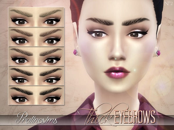 Thick Eyebrows by Pralinesims
