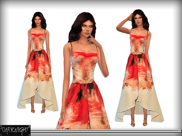 Printed Long Back Gown by DarkNighTt