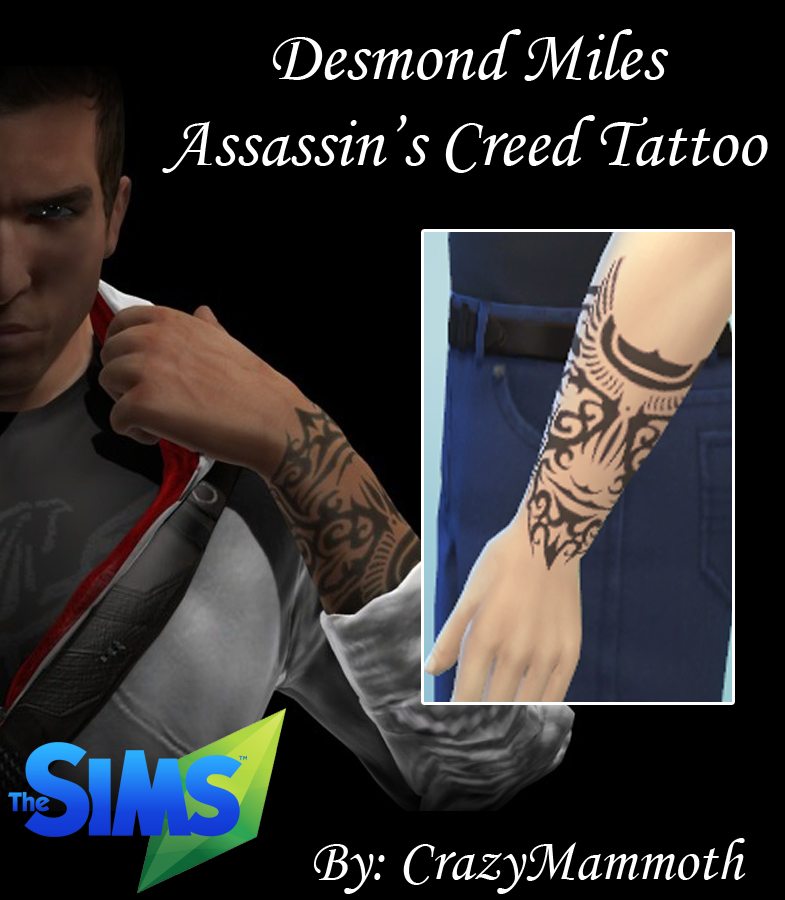 Desmond Miles Assassin's Creed Tattoo by CrazyMammoth