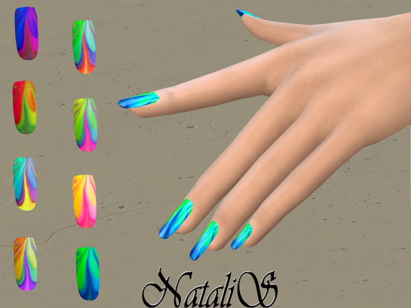 NataliS_Watercolor marble nails FT-FA