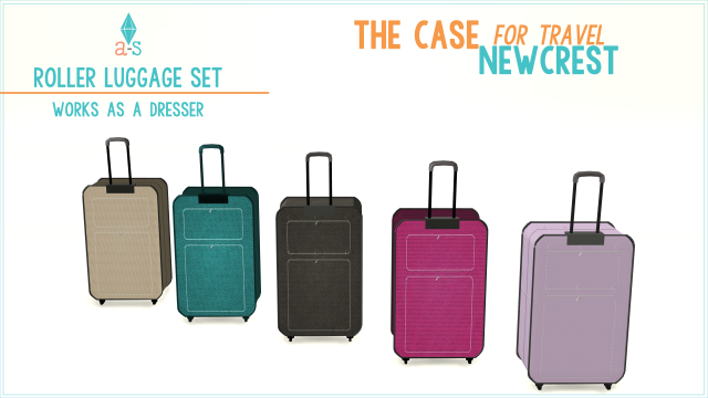 Roller Luggage as Dressers and Bonus Sports Totes by Ajoya