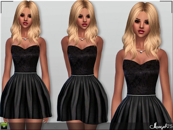 S4 Satin Skater Dress by Margeh-75