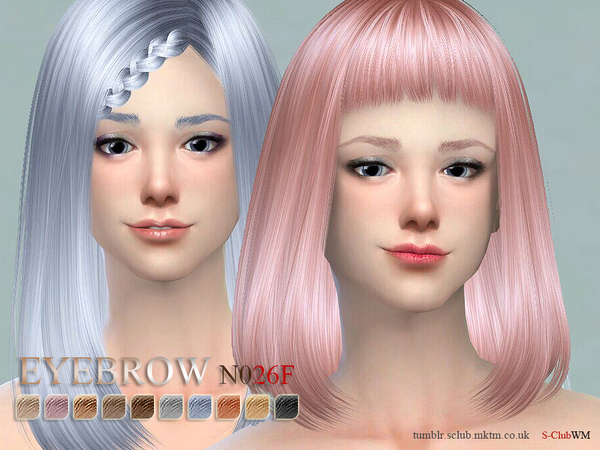 S-Club WM thesims4 Eyebrows26 F