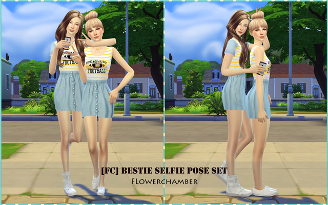 Bestie Selfie Pose Set by flowerchamber