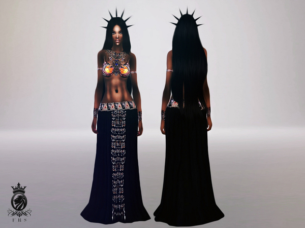 Queen of the Damned (Aaliyah outfit) by FashionRoyaltySims