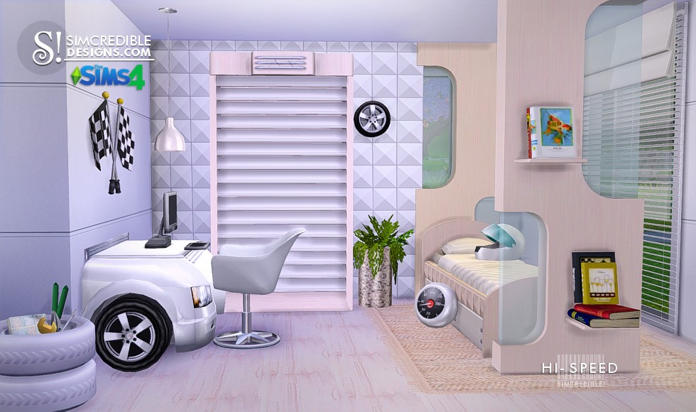 Hi-Speed Kids Bedroom Set by Simcredible Designs