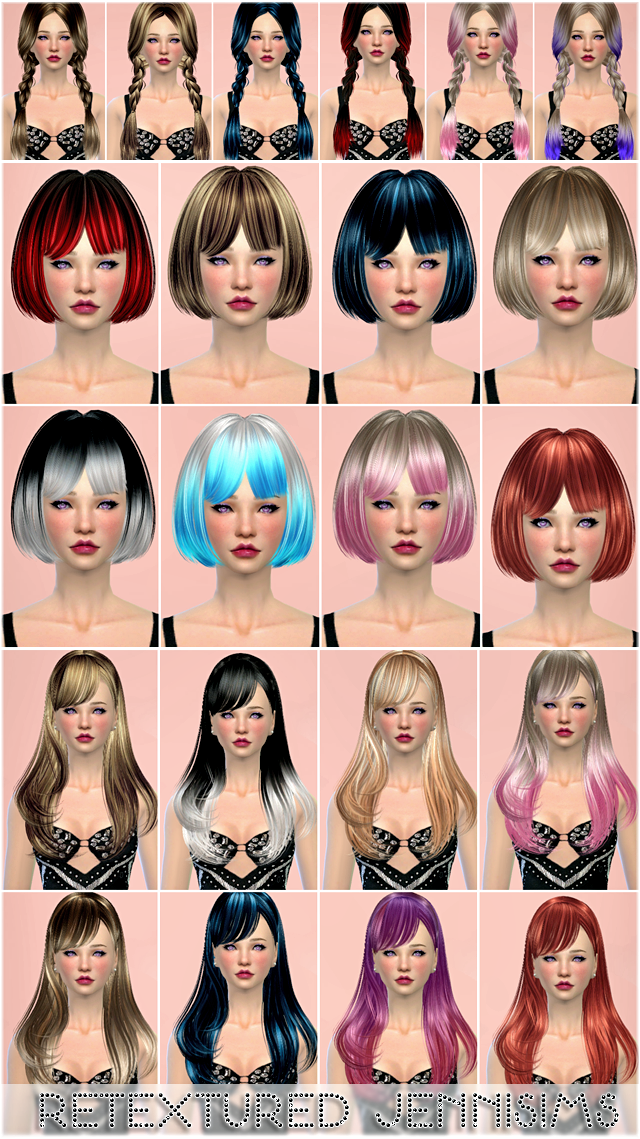Sets of Hairs SkySims, Butterflysims retextured by Jenni Sims