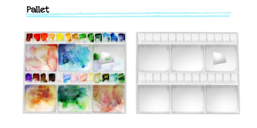 Water Color Artist Set by Imadako