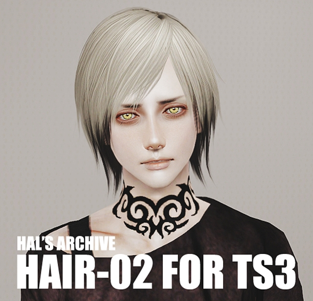 Hair-02 for TS3 by ha2d