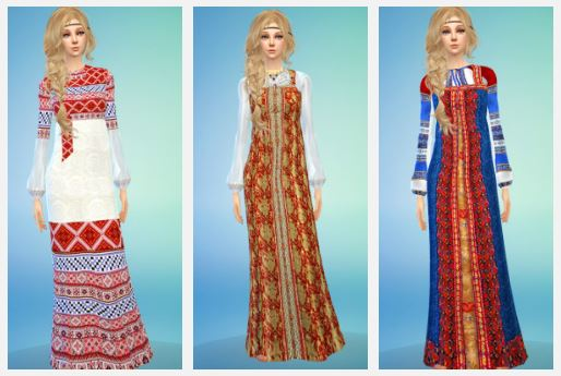 TS2 Russian Dresses Conversion by LadyBereniche