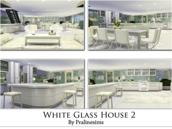 White Glass House 2 by Pralinesims