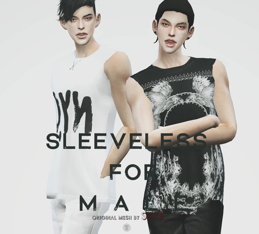 Sleeveless T-Shirts for Males by BlackLe