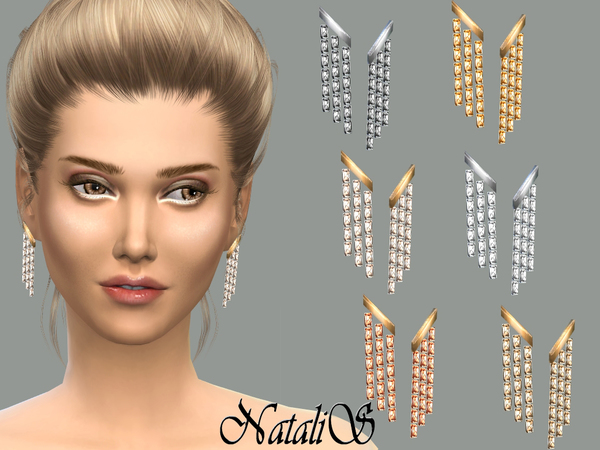 NataliS_Triple strand earrings FT-FE