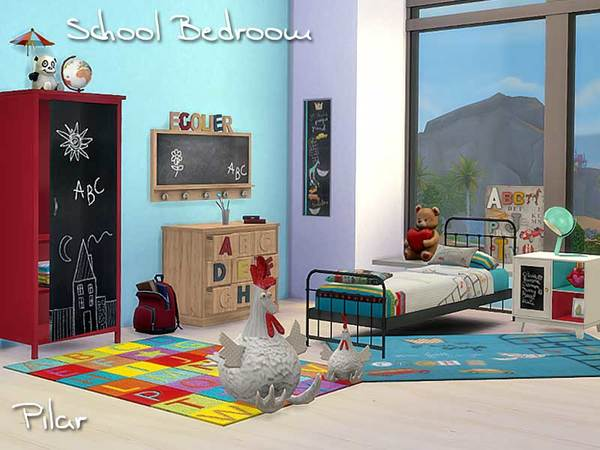 School Bedroom by Pilar
