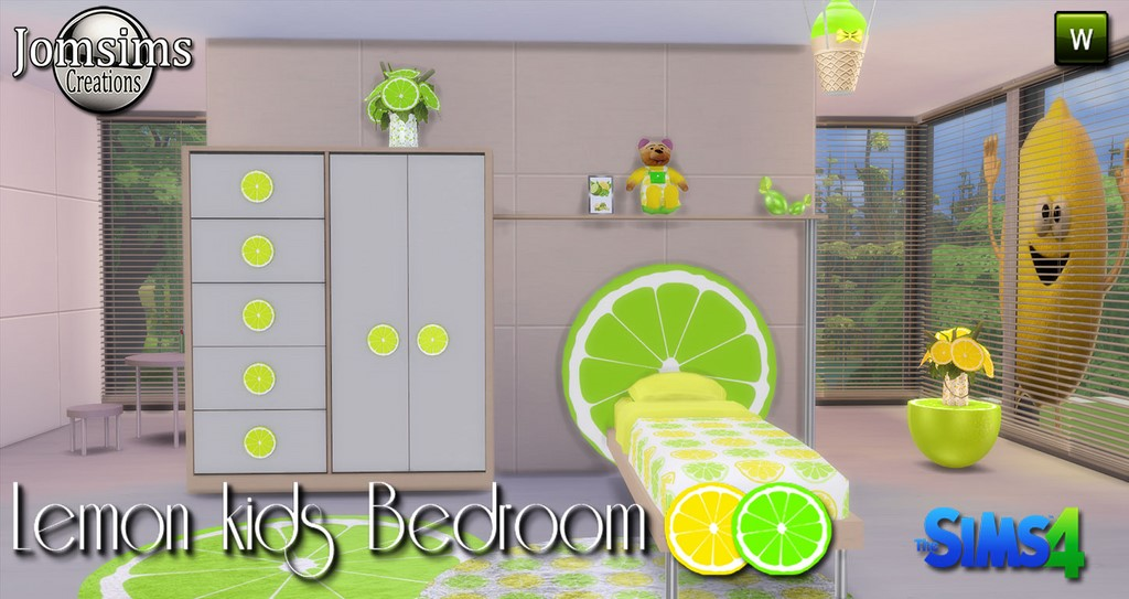 Lemon Kids Bedroom Set by JomSims