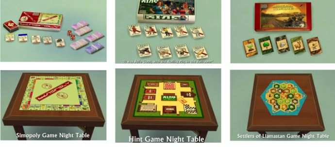 Game Night Tables by SimDoughnut