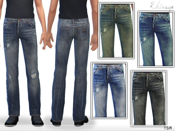 Straight Leg Jeans by ekinege