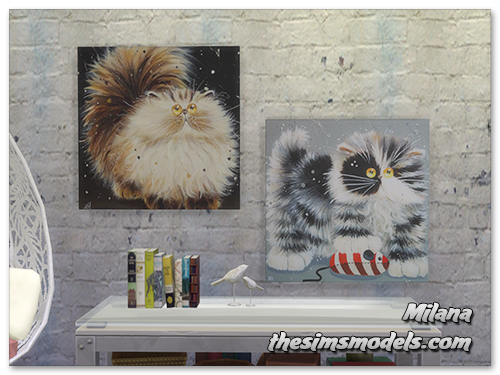 Paintings Cats by Milana